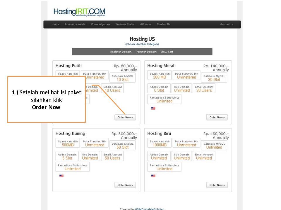 _Cara Order Domain dan Hosting di HostingIRIT dot COM